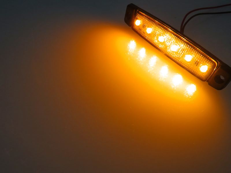 dasteri led markeringslampe 6 leds 24v. Black Bedroom Furniture Sets. Home Design Ideas