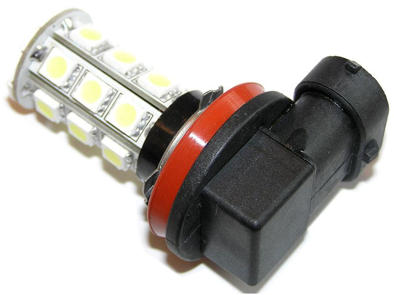 Modish H8 / H11Xenon-Hvit LED pære 12V - Rund - Dioder.no SP-02