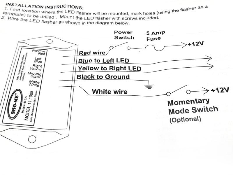 Stupendous Sho Me Flasher Wiring Diagram Wiring Diagram Wiring Cloud Venetbieswglorg